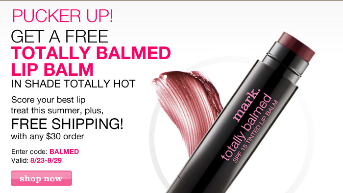 Get a Free Totally Balmed Lip Balm in Totally Hot