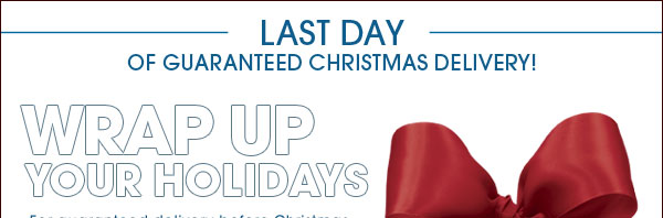 Last Day of Guaranteed Christmas Delivery