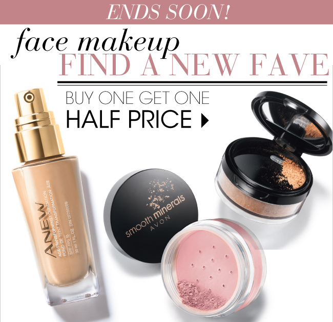 Buy 1, Get 1 Half Price Face Makeup