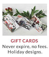 Gift Cards | Never expire, no fees. Holiday designs.
