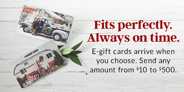 There's still time. An e-gift card always fits – and arrives in an instant.