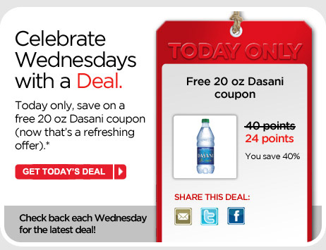 Free 20 oz Dasani coupon