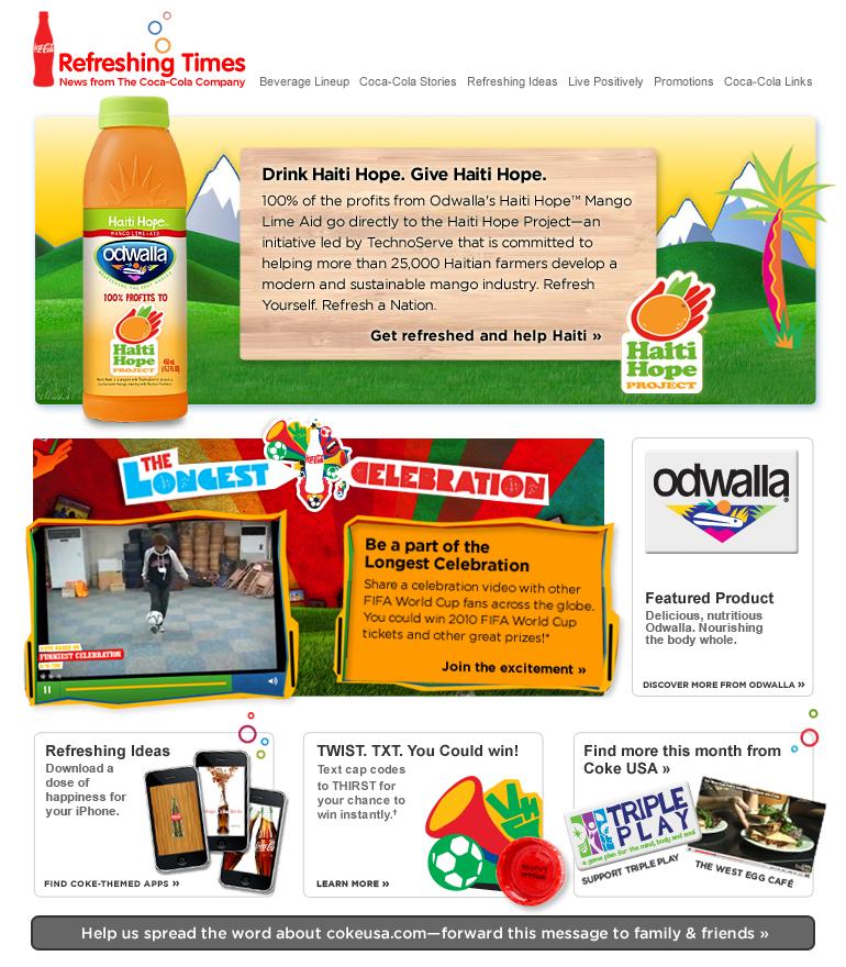 Coke Newsletter – Email Gallery