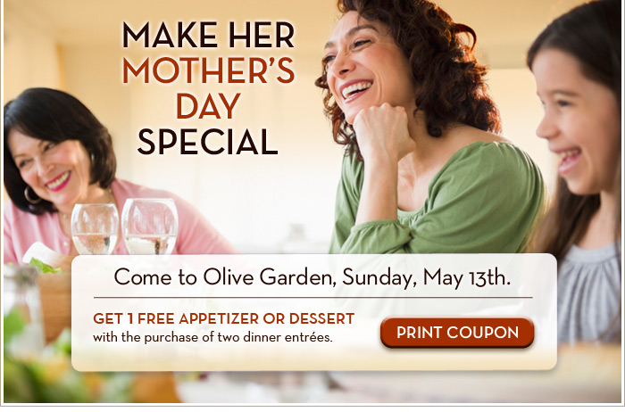 Mothers day special at olive garden find the art that - What are the specials at olive garden ...