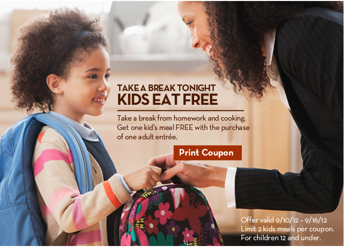 Olive Garden Printable Coupon Kids Eat Free