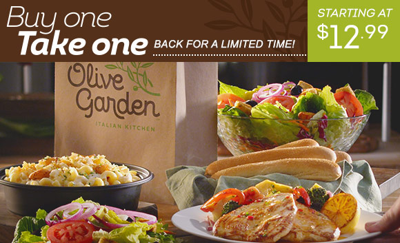 Olive Garden Buy One, Take One