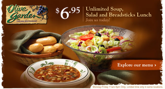 olive garden unlimited soup salad and breadstick