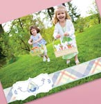 EASTER PLAID PHOTO FRAME