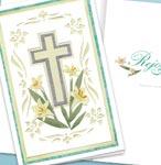 CUT PAPER CROSS 1/2 FOLD CARD