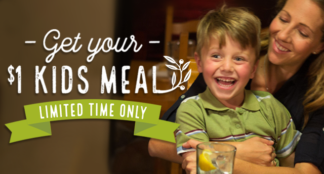 Get your $1 kids meal - limited time only