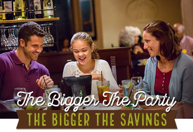 The Bigger the Party | THE BIGGER THE SAVINGS