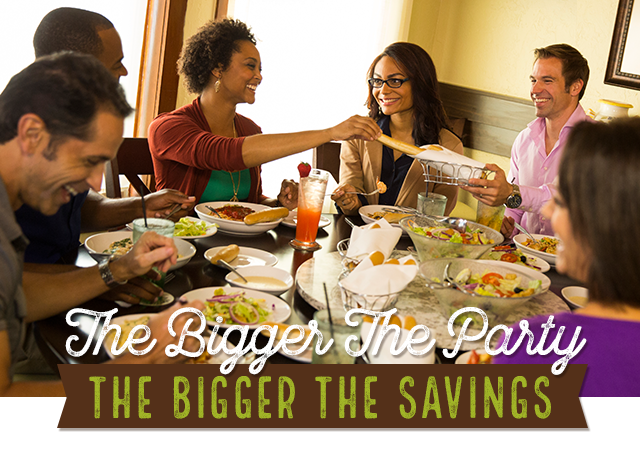 The bigger the party the bigger the savings