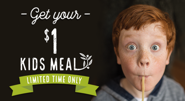 Get your $1 Kids Meal