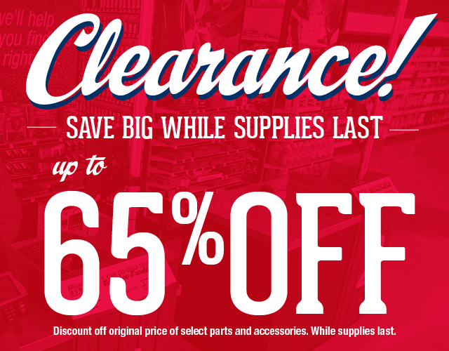 Clearance! Up to 65% off!