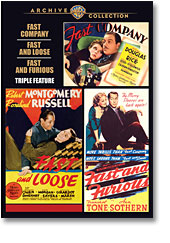 TFAST COMPANY/FAST AND LOOSE/FAST AND FURIOUS TRIPLE FEATURE (1938-1939)